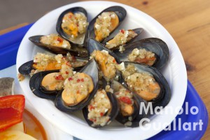 Gastronomía gallega. Fiesta del Marisco en Valencia. Foto de Manolo Guallart