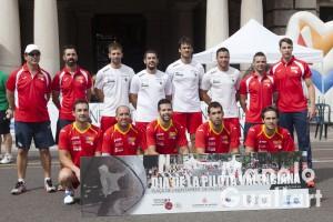 Selección valenciana de Pilota Valenciana. Foto de Manolo Guallart.