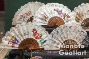 Abanicos de Ana Muñoz Arastell (Cositas pintadas) en Na Jordana. Foto de Manolo Guallart.