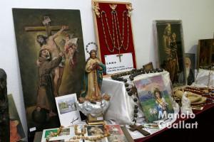 Exposición mariana-franciscana en 2005, obra de Fray Conrado Estruch. Foto de Manolo Guallart.