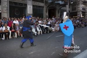 Escena de lucha. Entrada mora y cristiana en Valencia. Foto de Manolo Guallart.