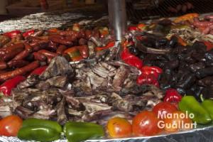 Gastronomía en el mercado medieval Jaime I de Valencia. Foto de Manolo Guallart.
