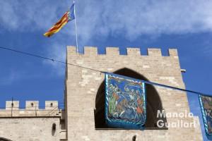 Ambiente medieval en las Torres de Serranos. Foto de Manolo Guallart.