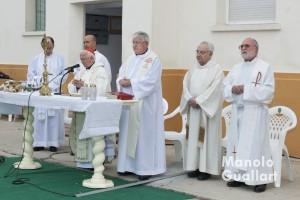 Eucaristía en honor a la Virgen del Pilar presidida por monseñor Cañizares. Foto de Manolo Guallart.