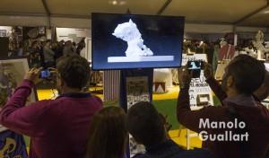 Detalle de la presentación audiovisual de una maqueta. Foto de Manolo Guallart.