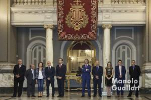 Los jurados de las Falleras Mayores de Valencia 2016. Foto de Manolo Guallart.