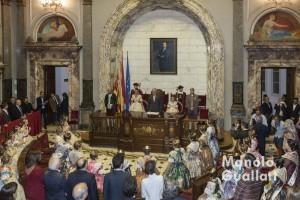 Aspecto general del Hemiciclo del ayuntamiento en el nombramiento de las Falleras Mayores de Valencia 2016.