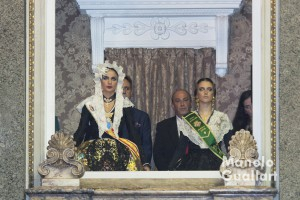 Carmen Caballero (Bellea del Foc) y Carolina Tárrega (Reina de la Magdalena). Foto de Manolo Guallart.