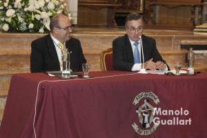 Ignacio Sánchez, rector de la Universidad Católica San Vicente Mártir en el Discurso de Apertura del Año Vicentino. Foto de Manolo Guallart.