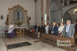 Miembros del altar vicentino de Russafa en la eucaristía del convento de los Ángeles. Foto de Manolo Guallart.