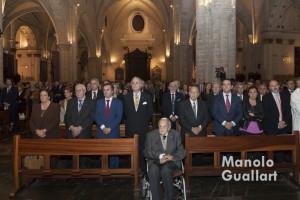 Aspecto parcial de la catedral de Valencia en la celebración de la fiesta del Santo Cáliz. Foto de Manolo Guallart.