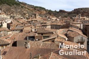 Vista del centro de Daroca desde una torre de la Puerta de Valencia. Foto de Manolo Guallart.
