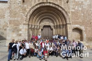 Grupo de peregrinos de Amics del Corpus de Valencia en Daroca. Foto de Manolo Guallart.
