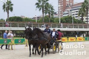 Paseo en coche de caballo por el antiguo cauce. Foto de Manolo Guallart.