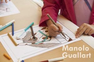Actividades pedagógicas infantiles en Valencia Caballo. Foto de Manolo Guallart.