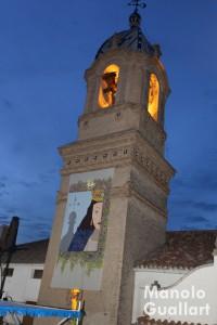 Campanario de la parroquia Virgen del Rosario en Fontanars del Alforins. Foto de Manolo Guallart.