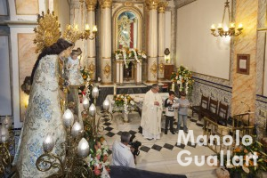 Eucaristía en honor a la Virgen de los Desamparados. Foto de Manolo Guallart.