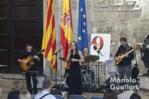 """Concierto del """"Berklee College of Music"""" en el Palau de la Generalitat. Foto de Manolo Guallart."""