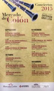 Cartel anunciador de los conciertos del Mercado de Colón. Foto de Manolo Guallart.
