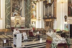 Homilía sobre la coronación de la Asunción (párroco José Vicente Calza). Foto de Manolo Guallart.