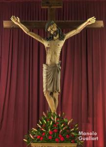 Imagen del Cristo del Salvador que se venera en el centro histórico de Valencia. Foto de Manolo Guallart.