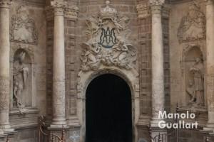 Puerta de entrada a la Catedral de Valencia en la celebración del inicio del Jubileo. Foto de Manolo Guallart.