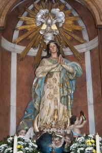 Imagen de la Catedral de Valencia (madera policromada), obra de José Ponsoda. Foto de Manolo Guallart.