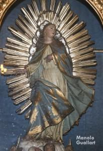 Imagen de la ermita de Santa Lucía en Valencia (capilla lateral). Foto de Manolo Guallart.