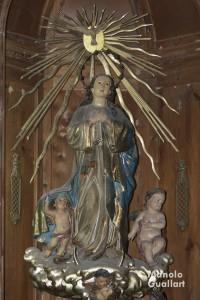 Imagen de la parroquia de San Nicolás (madera policromada), obra de José Este Bonet.Foto de Manolo Guallart.