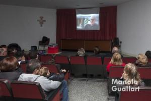 Proyección del documental homenaje a Fray Conrado. Foto de Manolo Guallart.