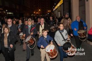 Dolçainers i tabaleters en la fiesta de Santa Lucía de Valencia. Foto de Manolo Guallart.