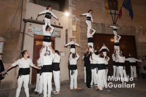 """Participación de la """"Muixeranga de València"""" en la fiesta de Santa Lucía. Foto de Manolo Guallart."""