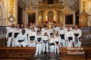 """La """"Muixeranga de València"""" en la ermita de Santa Lucía. Foto de Manolo Guallart."""