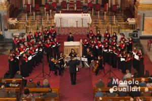 Coro universitario Sant Yago. Concierto de Navidad en La Compañía. Foto de Manolo Guallart.