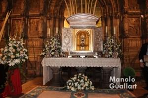 Capilla del Santo Cáliz en la Catedral de Valencia en la tarde del Jueves Santo. Foto de Manolo Guallart.