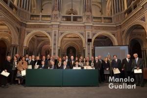 Histórica fotografía del XXV aniversario de los premios ARCHIVAL. Foto de Manolo Guallart.