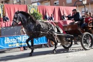 San Antonio Abad. Carruaje en la calle Sagunto de Valencia. Foto de Manolo Guallart.