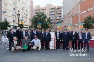Grupo de la Hermandad de San Antonio Abad en Valencia. Foto de Manolo Guallart.