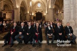 Caballeros Jurados de San Vicente Ferrer en la misa por San Vicente Mártir. Foto de Manolo Guallart.