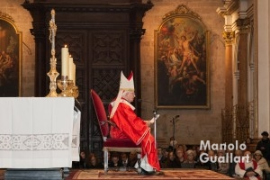 El cardenal Cañizares en su homilía sobre San Vicente Mártir. Foto de Manolo Guallart.