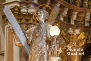 Imagen de San Vicente Mártir en la catedral de Valencia. Foto de Manolo Guallart.
