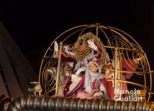 El rey Gaspar en la cabalgata de Valencia. Foto de Manolo Guallart.