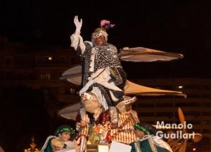 El rey Baltasar en la cabalgata de Valencia. Foto de Manolo Guallart.