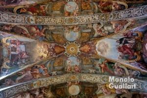 Frescos en la parroquia de San Nicolás y San Pedro Mártir tras su restauración. Foto de Manolo Guallart.