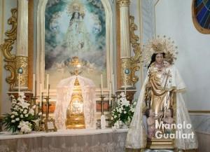 Imagen de la Virgen de los Desamparados en su capilla de Quartell (parroquia de Santa Ana). Foto de Manolo Guallart.