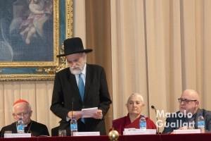 Representante de las Federación de Comunidades Judías de España. Foto de Manolo Guallart.
