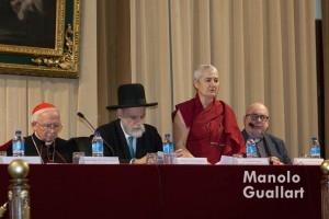 Representante de la Federación Española de Comunidades Budistas de España. Foto de Manolo Guallart.