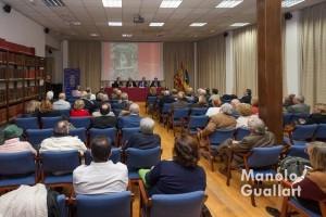 Aspecto del salón de actos del Casino de Agricultura durante la mesa redonda vicentina. Foto de Manolo Guallart.