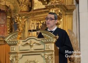 Santiago Ruiz en el acto del pregón vicentino. Foto de Manolo Guallart.