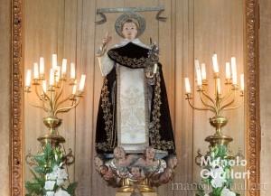 La imagen de San Vicente Ferrer en la parroquia de los Santos Juanes. Foto de Manolo Guallart.